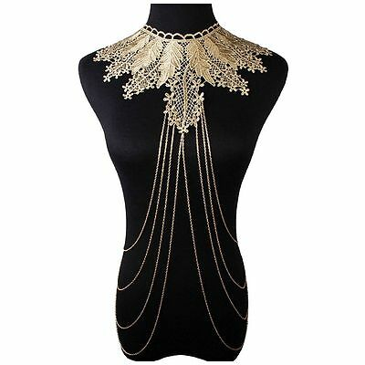 Lace Body Jewelry Chain Body Necklace R6S6