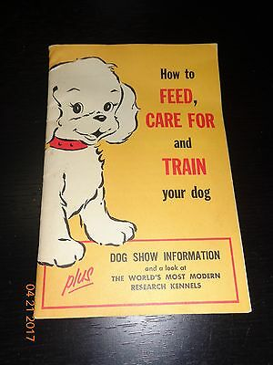 Vintage KEN-L Foods How to Feed Care For & Train Your Dog Quaker Oats Book