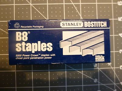"4 Stanley Bostitch B8 Staples STCR21153/8 - 3/8"" - 5000 Power Crown Staples/Box"