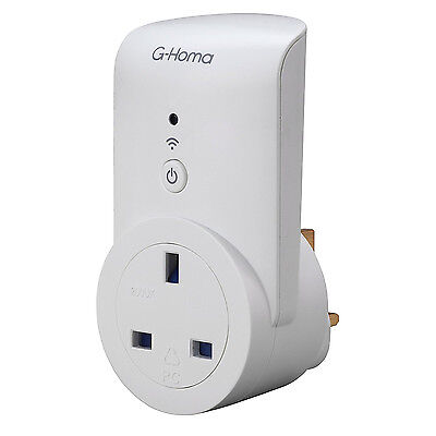 SMJ Electrical G-Homa Wi-Fi Wirelss Control Socket Plug For Tv Radio Stereo