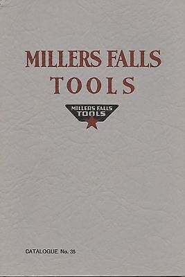 Millers Falls No. 35 Catalog - new unread Roger K Smith reprint