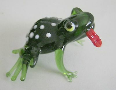 russian glass animal frog with tongue murano figurine art hand blown