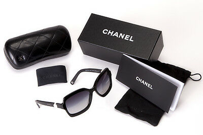 9b107f23e486 100% Authentic Chanel 5132 H 5013C Black Sunglasses with two Freshwater  Pearls
