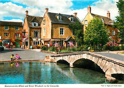 Postcard: Bourton-On-The- Water And River Windrush In The Cotswolds [John Hinde]