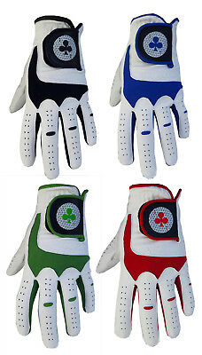 Brand New Men's Full Leather Palm Top Quality 'ace' Golf Gloves Lh & Rh