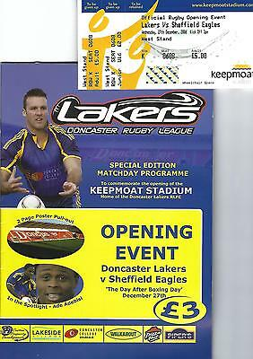 First game at Keepmoat DONCASTER v SHEFFIELD programme + ticket 27 December 2006