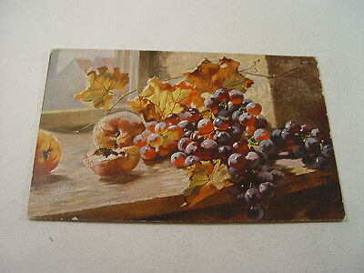 OTH277 - Postcard - Still Life Grapes & Peaches