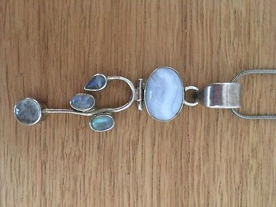 Moonstone pendant necklace 925 stirling silver