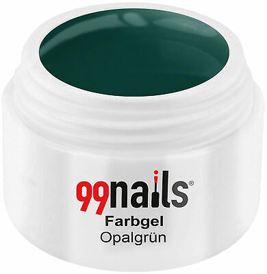 UV GEL Farbgel - Opalgrün 5ml / UV LED Color Gel Nails ! Made in Germany !