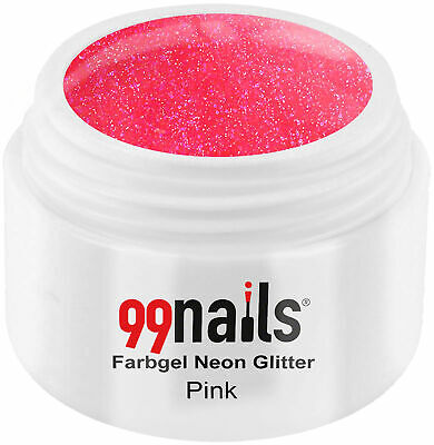 UV GEL Farbgel Neon Glitter - Pink 5ml / Color Gel Nails ! Made in Germany !