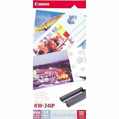 """CANON KW24IP 4"""" x 8"""" Paper - Five Packs of 12 Sheets"""