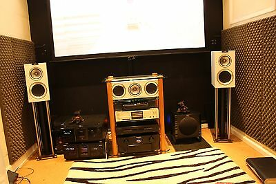 Kef R 300 Speakers Gloss White, Mint And Boxed,