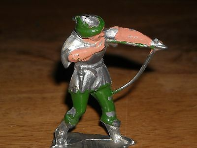 Vintage lead figure Crescent Robin Hood with bow arrow