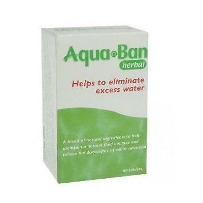 Aqua Ban Herbal - 60 Tablets Eliminate Of Excess New Water (Aquaban)*Free Post*
