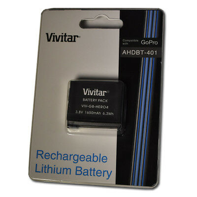Vivitar Replacement Rechargeable Lithium Ion Battery for GoPro Hero4