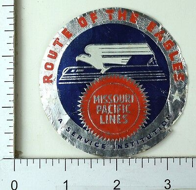 1940's-50's Missouri Pacific Lines Route Of The Eagles Luggage Label Stamp E8