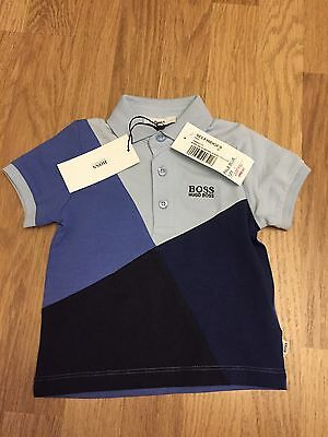 Baby Boys Hugo Boss Polo Shirt Age 12 Months Navy Blue New Genuine
