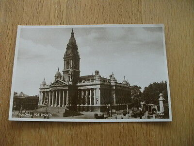 Early 20th Century Postcard The Guildhall Portsmouth Hampshire