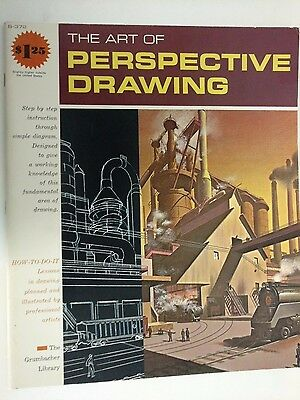 B-372 The Art of Perspective Drawing Grumbacher Library 1968 Vanishing Points