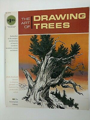 B-370 The Art of Drawing Trees Grumbacher Library 1966 Woodlands Swamp Mountain