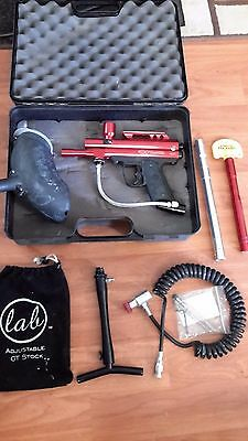 PMI Piranha paintball gun with Adjustable GT Stock and Case