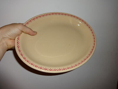 INCA WARE china serving platter RED EYELET restaurant ware SHENANAGO