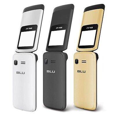 "BLU Zoey Flex Z130 1.8"" Cell Phone Flip VGA Unlocked Dual SIM NEW"