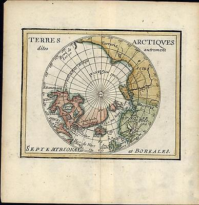 Northern Hemisphere Arctic Greenland Asia Tartary 1682 du Val old antique map