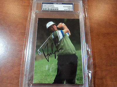 """FRED COUPLES """" Masters Winner """" Signed Photograph - PSA DNA CERTIFIED AUTHENTIC"""