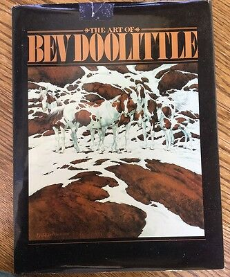 The Art Of Bev Doolittle Hb/dj Artist Book Coffee Table Indian Horses Landscape