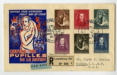 Luxembourg Stamps # B156-61 First Day Cover Cachet Registered