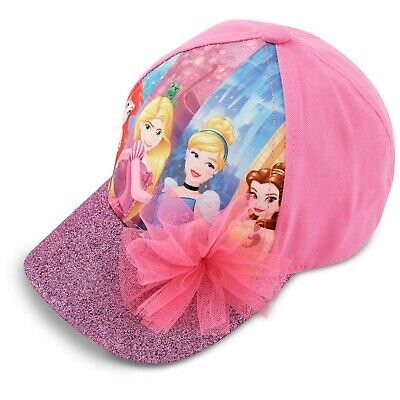 Disney Princess Characters Cotton Baseball Cap, Little Girls, Age 4-7
