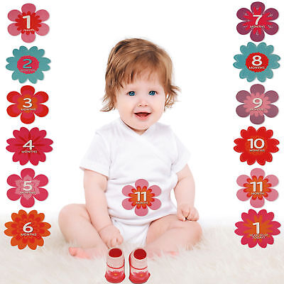 Rising Star Milestone Belly Stickers and Booties Gift Set, Baby Girls, Age 0-12M