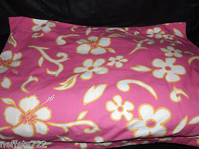 Pottery Barn Teen Tropical Flower Standard Pillow Sham Cotton Girls Euc
