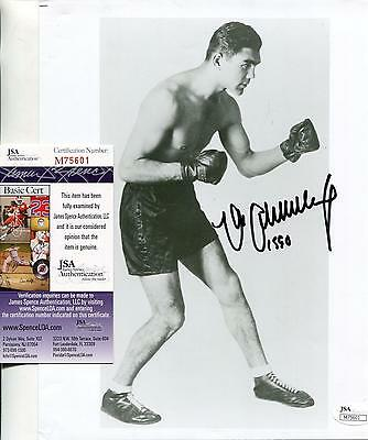 Max Schmeling Boxer Boxing Champ Signed Photo Autograph Jsa Authenticated