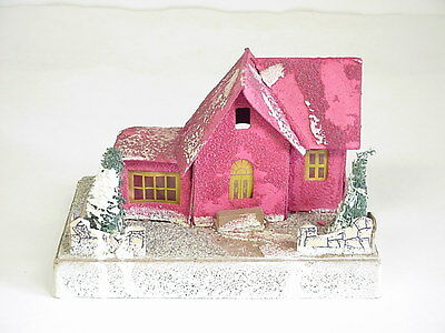 Vintage The Dolly Toy Co. Cardboard Red Christmas Houser