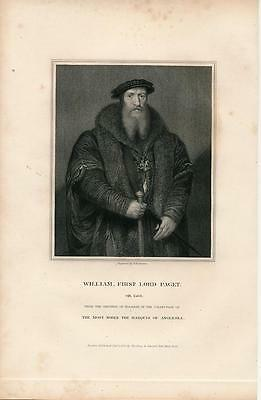 William First Lord Paget 1831 scarce antique English U.K. Portrait print