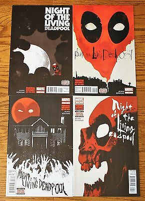 Night of the Living Deadpool 1 2 3 4 Marvel Comics Complete Set NM