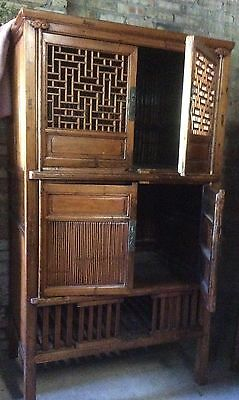 CHINESE ANTIQUE KITCHEN CABINET / Rare / Functional / Accent Furniture