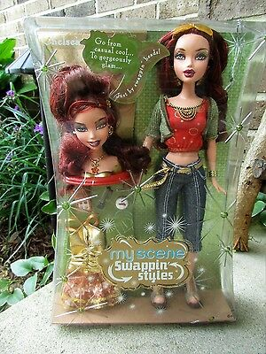 """NEW~ 2006 My Scene """"Swappin Styles"""" CHELSEA Barbie doll~ Factory Sealed"""