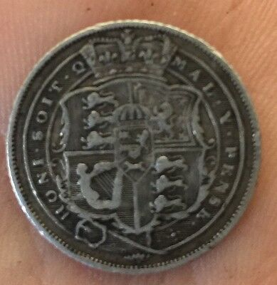 1819 British Sixpence Silver Coin George III Very Nice Detail