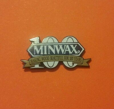 ☆ RARE☆ New! MINWAX Lapel Pin ~ Vendor @ Home Depot RARE!
