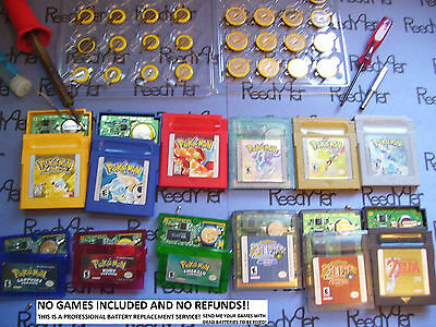 GAME SAVE BATTERY REPLACEMENT REPAIR SERVICE Fix NES SNES N64 Gameboy gba games