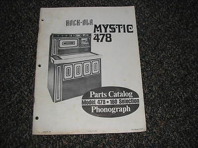 Rock Ola  Mystic 478/160 select PARTS MANUAL Original