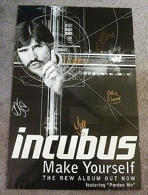 INCUBUS FULL BAND CLASSIC LINEUP SIGNED MAKE YOURSELF 24x36 inch PROMO POSTER