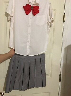Bleach Anime Orihime Inoue Handmade School Uniform Cosplay Costume Size Small
