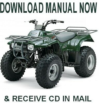 KAWASAKI KLF300 BAYOU factory Service Repair Manual on CD ( 1986-06 on golf cart brands, golf cart gas motors, golf cart chassis, club car golf cart manual,