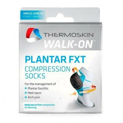 Thermoskin Walk-On Plantar FXT Compression Ankle Socks White Thermoskin