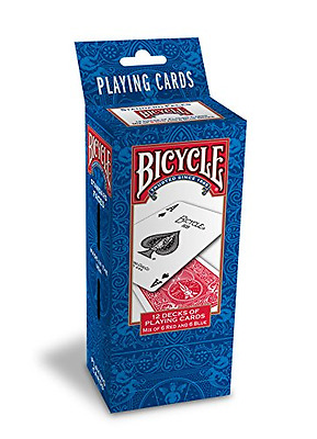 NEW 12 Decks Bicycle US Standard Playing Cards Card Sealed Poker 6 x Blue & Red