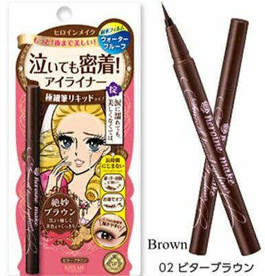 One NEW Packing Heroine Kiss Me Make Better Brown Smooth Liquid Eyeliner